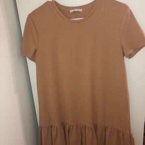 ZARA women's tan dress